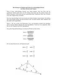 Berechnung von Winkeln und Seiten im rechtwinkligen Dreieck mit ...