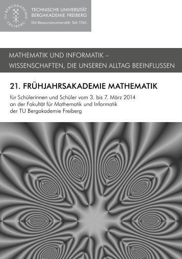 2014 - Fakultät für Mathematik und Informatik