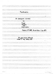 Rosner - Transformations, op. 87