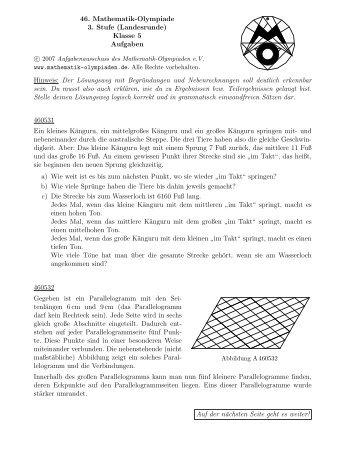 5 - Mathematik-Olympiaden e.V.
