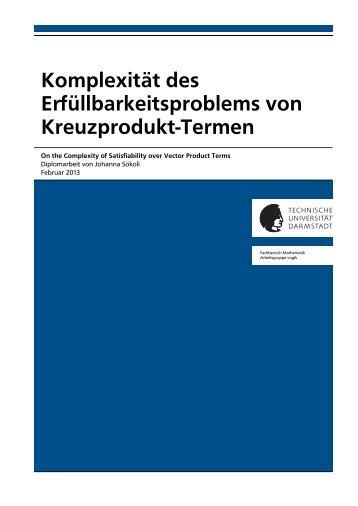 Komplexität des Erfüllbarkeitsproblems von Kreuzprodukt-Termen