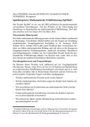Spielintegrierte Mathematische Frühförderung (SpiMaF)