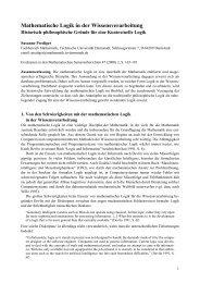 Mathematische Logik in der Wissensverarbeitung. Historisch ...
