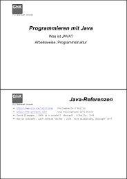 Programmieren mit Java Java-Referenzen