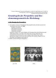 Grundregeln der Perspektive und ihre elementargeometrische ...