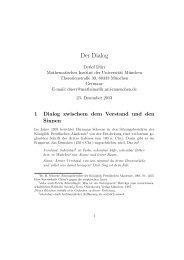 Der Dialog; überarbeitete Vorlesung - Mathematisches Institut
