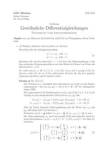 Lösungsvorschlag Hausaufgabenblatt 4 - LMU