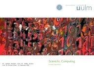 Scientific Computing - Parallele Algorithmen