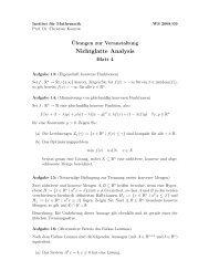 Blatt 4 - Institut für Mathematik