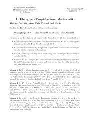 Der Korrektor, Dein Freund und Helfer - Institut für Mathematik