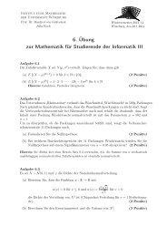 Blatt 6 - Institut für Mathematik - Universität Würzburg