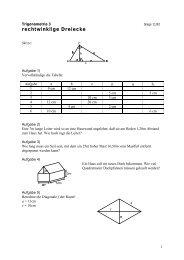 rechtwinklige Dreiecke - Mathesite