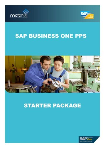 starter package sap business one pps - Matrix Business Solutions