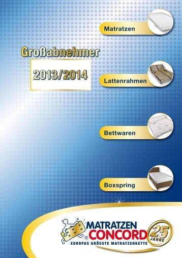 Großabnehmer - Matratzen Concord GmbH