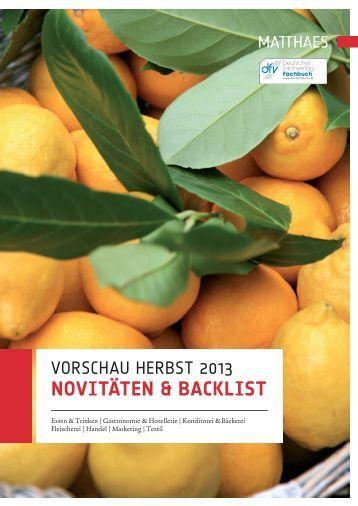 Vorschau Herbst 2013 - Matthaes Verlag GmbH