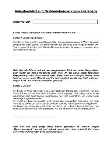 Aufgabenblatt Eversberg - Matthias-Claudius-Haus