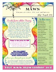 July 2013 - Montana Association of Weavers & Spinners