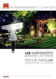 LED GarTenspoTs - Max Hauri AG