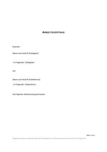 Arbeitsvertrag Friseure