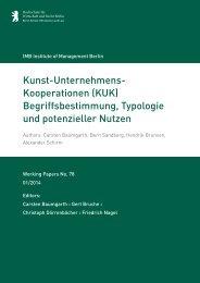 Kunst-Unternehmens- Kooperationen (KUK) - IMB Institute of ...