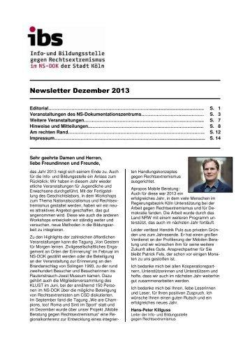 Newsletter Dezember 2013 - Mobile Beratung gegen ...