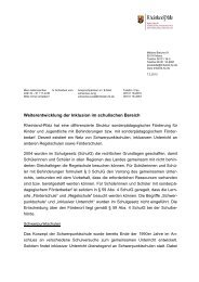 Landeskonzept für die Weiterentwicklung der Inklusion im ...