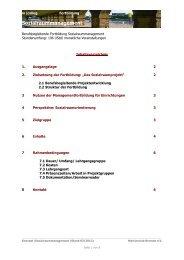 Konzept des Lehrgangs Sozialraummanagement - m|colleg