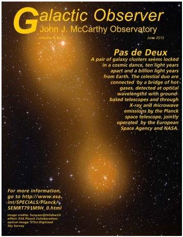 June 2013 - John J. McCarthy Observatory