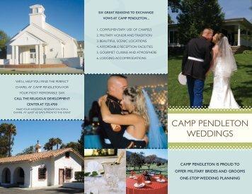 CAMP PENDLETON WEDDINGS - MCCS Camp Pendleton