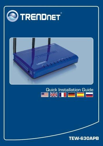 TEW-630APB Quick Installation Guide - TRENDnet