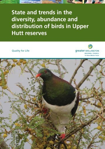 State and trends in the diversity, abundance and distribution of birds ...