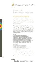 Seminarbeschreibung - Management Center Vorarlberg