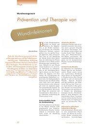 Prävention und Therapie von Wundinfektionen