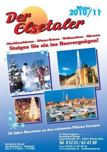 Kurzreisen im Advent PDF - Der Elsetaler