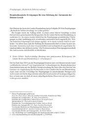 Brandenburgische Erwägungen für eine Stärkung der Autonomie ...