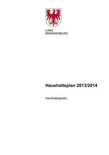 00_haushaltsgesetz_2013-14.pdf - Ministerium der Finanzen