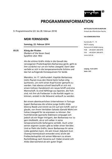 Herunterladen - Mitteldeutscher Rundfunk