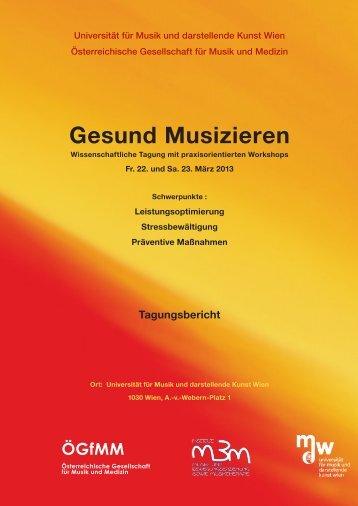 Tagungsbericht - Universität für Musik und darstellende Kunst Wien