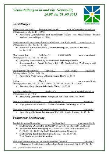 Veranstaltungen_NTZ - Mecklenburgische Seenplatte