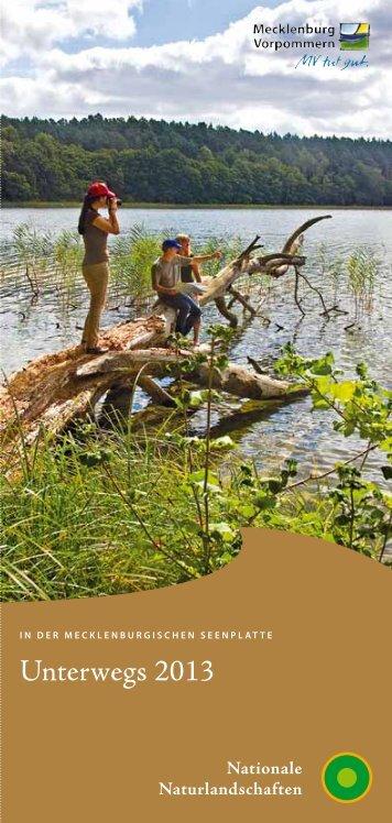 Nationalparkführungen 2013 - Mecklenburgische Seenplatte
