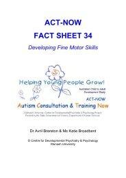 ACT-NOW FACT SHEET 34 Developing Fine Motor Skills - Monash ...