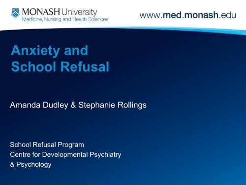 Anxiety and School Refusal