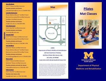 Mat Class Schedule
