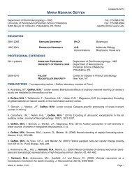 Curriculum Vitae - University of Pennsylvania School of Medicine
