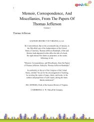 Memoir, Correspondence, And Miscellanies, From The Papers Of ...