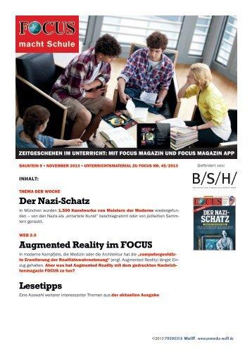 04.11.2013: Report: Der gerettete Schatz - FOCUS MediaLine