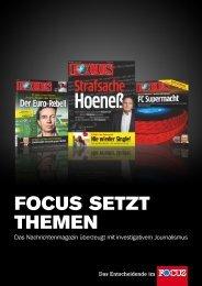 FOCUS Setzt themen - FOCUS MediaLine