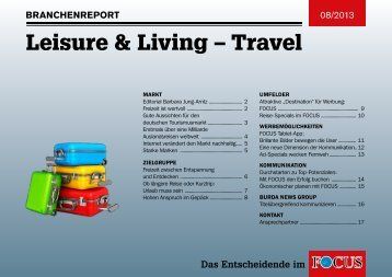 Branchenreport Leisure & Living - Travel - FOCUS MediaLine