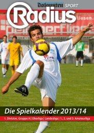 Die Spielkalender 2013/14 - Radius