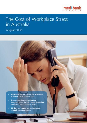 The Cost of Workplace Stress in Australia - Medibank